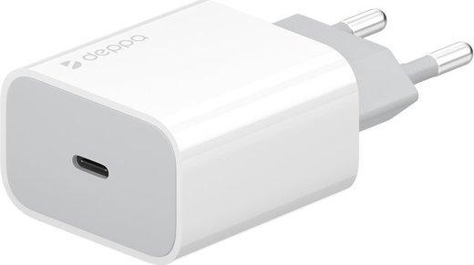 СЗУ адаптер USB Type-C, Power Delivery, 18Вт, белый, Deppa фото
