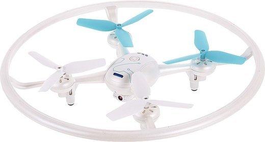 Квадрокоптер W3 с подсветкой, камера 0.3MP, белый фото