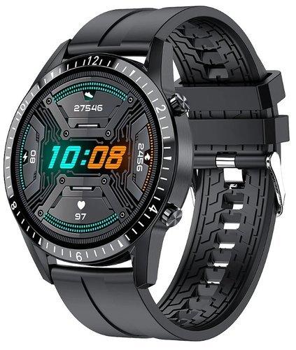 Умные часы Bakeey Hi9, силиконовый ремешок, черный фото