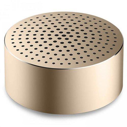 Портативная колонка Xiaomi Mi Portable Round Box, золотая фото