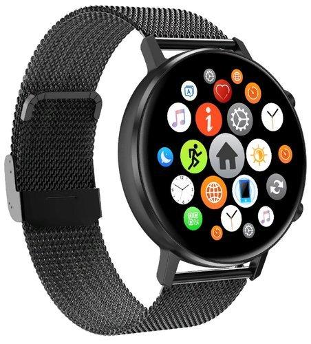 Умные часы DT No.1 DT96, стальной ремешок, черный фото