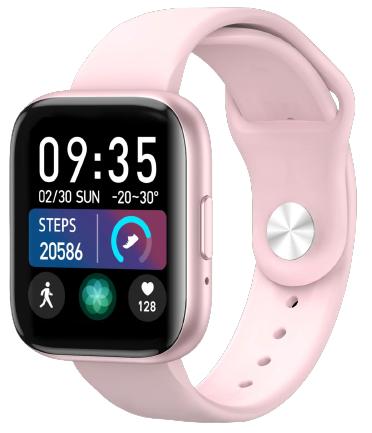 Умные часы Bakeey T99, силиконовый ремешок, розовый фото