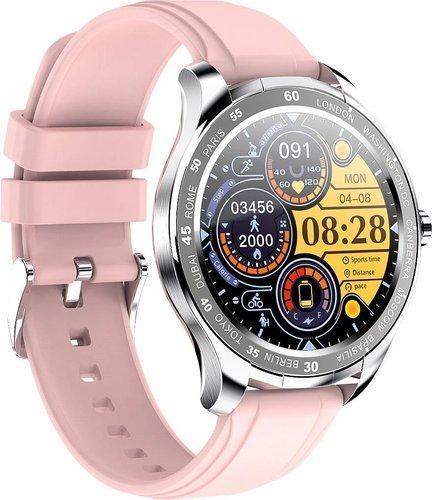 Умные часы Bakeey T50, силиконовый ремешок, розовый фото