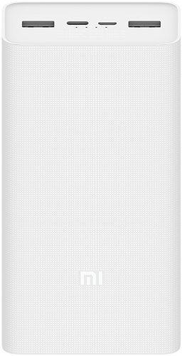 Внешний аккумулятор Xiaomi Mi Power Bank 3 30000 mah PB3018ZM, белый фото