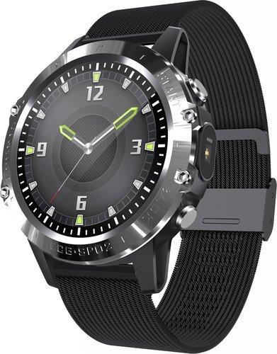 Умные часы Bakeey P8, стальной ремешок, черный фото