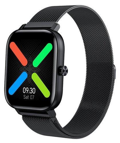 Умные часы Bakeey I10, стальной ремешок, черный фото