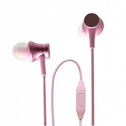 Наушники Xiaomi Mi In-Ear Headphones Basic, розовый фото