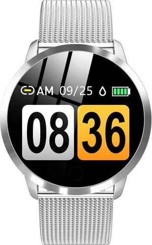 Умные часы Bakeey Q8, стальной ремешок, серебристый фото