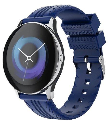 Умные часы Bakeey S8, силиконовый ремешок, синий фото