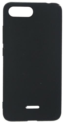 Чехол для смартфона Xiaomi Redmi 6A силиконовый (матовый черный), BoraSCO фото
