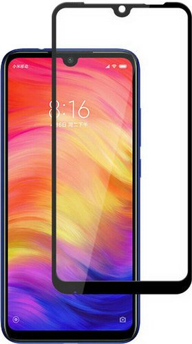 Защитное стекло для Xiaomi Redmi Note 7/7Pro Full Screen Full Glue черный, BoraSCO фото