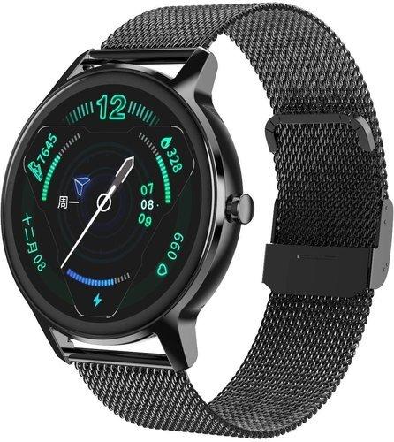 Умные часы DT No.1 DT56, металлический ремешок, черный фото