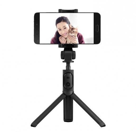 Монопод-штатив для селфи Xiaomi Mi Bluetooth Selfie Stick Tripod черный фото