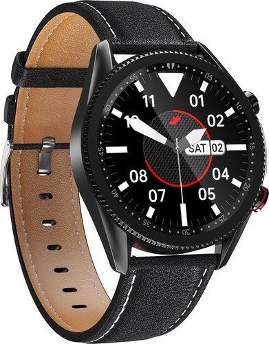 Умные часы Bakeey M98, кожаный ремешок, черный фото