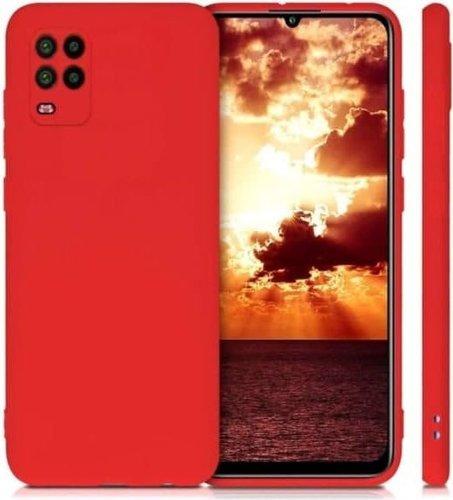 Чехол-накладка для Xiaomi Mi10 Lite красный, Microfiber Case, Borasco фото