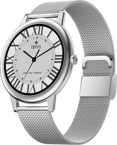 Умные часы Bakeey E10, металлический ремешок, серебристый фото