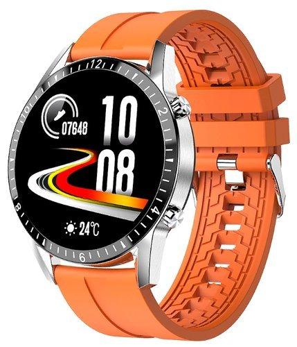 Умные часы Bakeey Hi9, силиконовый ремешок, оранжевый фото