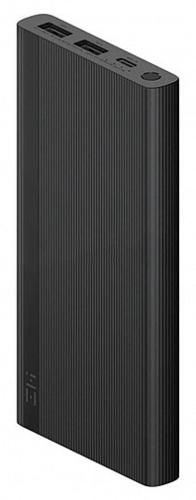 Внешний аккумулятор Xiaomi Mi Power Bank ZMI 10000 mah 18W Dual Port USB-A/Type-C Quick Charge 3.0, Power Delivery 2.0 (JD810 Black), черный фото
