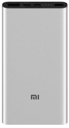 Внешний аккумулятор Xiaomi Mi Power Bank 3 10000 mah PLM12ZM серебристый фото