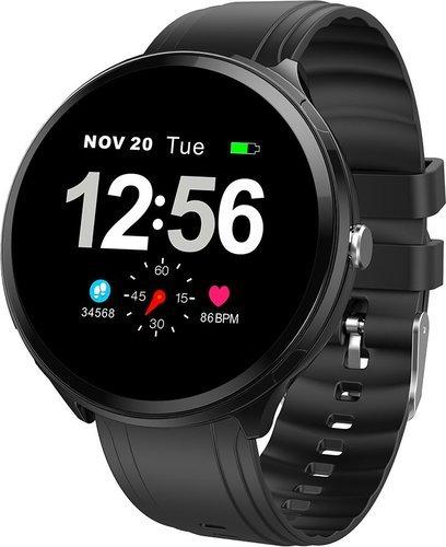 Умные часы Bakeey B12, силиконовый ремешок, черный фото
