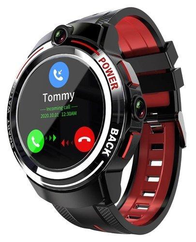 Умные часы Lokmat Lok02 с двойной камерой, черный/красный фото