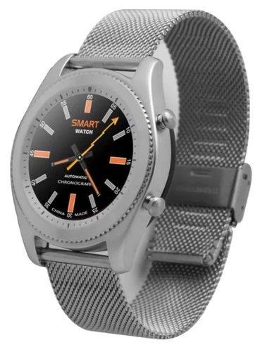 Умные часы NO.1 S9 серебро, ремешок сталь фото