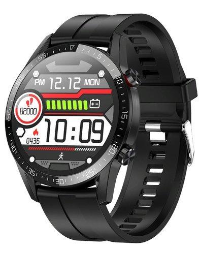 Умные часы Bakeey L13, силиконовый ремешок, черный фото