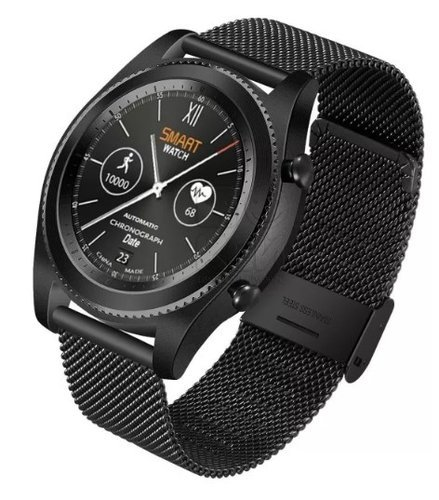 Умные часы NO.1 S9 черные, ремешок сталь фото