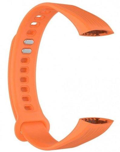 Ремешок силиконовый для Honor Band 3 оранжевый фото