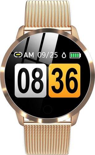 Умные часы Bakeey Q8, стальной ремешок, золотой фото