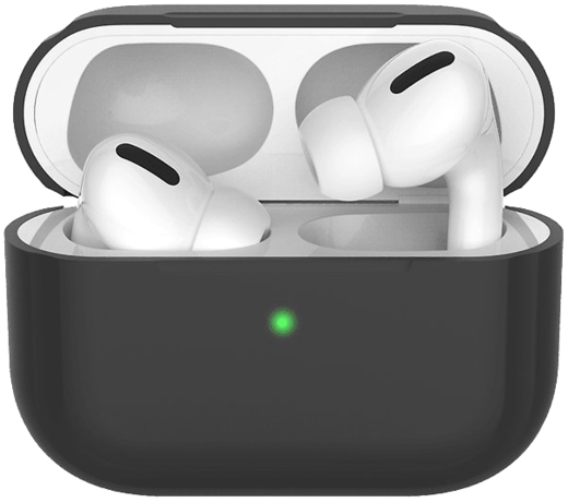 Чехол силиконовый Deppa для наушников Apple AirPods Pro, черный фото