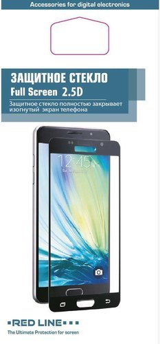 Защитное стекло для Xiaomi Mi5X/Mi A1 Full Screen черный, Redline фото