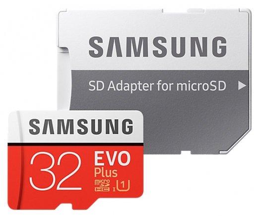 Карта памяти Samsung Evo Plus microSDHC 32Gb Class 10 UHS-I U1 (95MB/s) + ADP фото