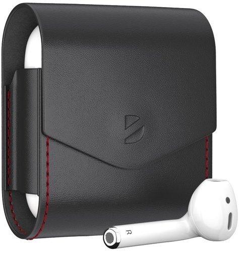 Чехол кожанный Deppa для наушников Apple AirPods, черный фото