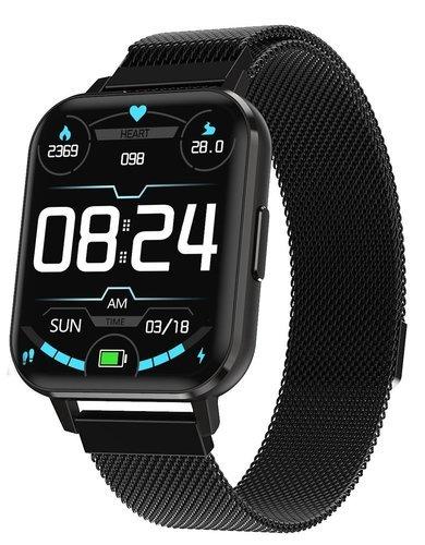 """Умные часы DT No.1 DTX 1.78"""", стальной ремешок, черный фото"""