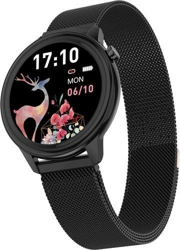 Умные часы Bakeey F80, стальной ремешок, черный фото