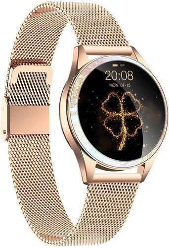 Умные часы Kingwear KW20, стальной ремешок, золотой фото