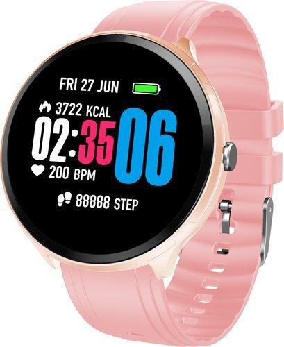 Умные часы Bakeey B12, силиконовый ремешок, розовый фото