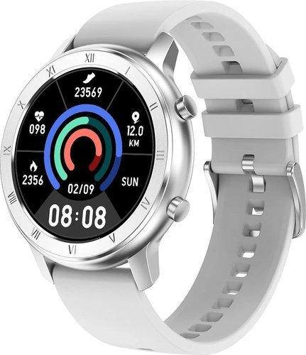 Умные часы DT No.1 DT89, силиконовый ремешок, серебристый фото