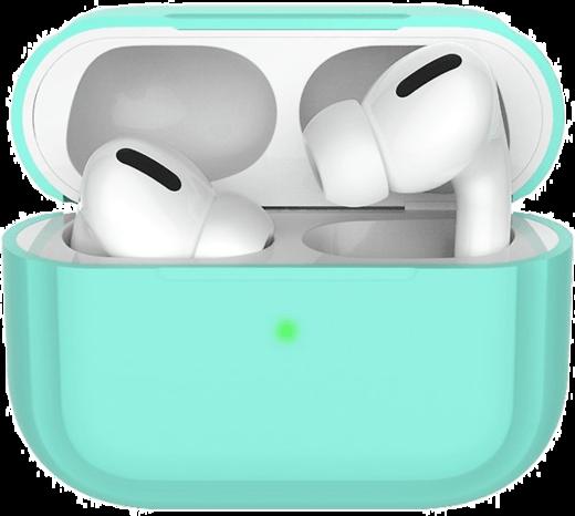 Чехол силиконовый Deppa для наушников Apple AirPods Pro, мятный фото