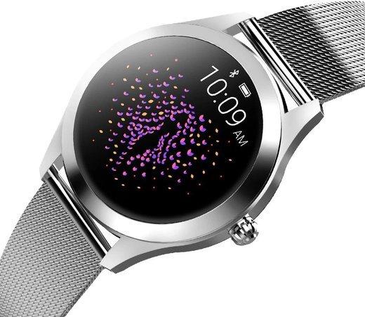 Умные часы Kingwear KW10, стальной ремешок, серебристый фото