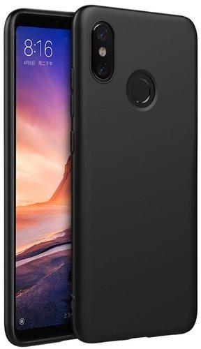 Чехол для смартфона Xiaomi Mi Max 3 силиконовый (матовый черный), BoraSCO фото