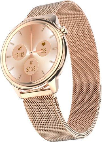 Умные часы Bakeey F80, стальной ремешок, золотой фото