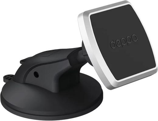 Автомобильный держатель Mage One для смартфонов, магнитный, крепление на приборную панель и лобовое стекло, PU присоска, Deppa фото