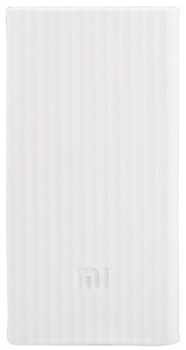 Чехол силиконовый для внешнего аккумулятора Xiaomi Mi Power Bank 2С 20000 mah (белый) фото
