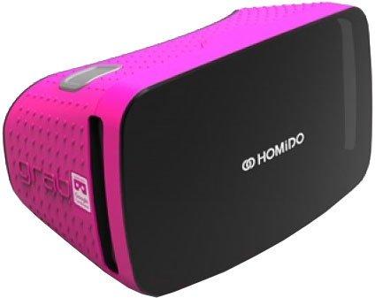 Очки виртуальной реальности Homido Grab розовые фото