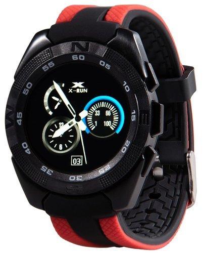 Умные часы Prolike Jet PLSW7000RD с цветным дисплеем, черно-красные фото