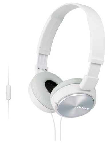 Наушники Sony MDR-ZX310AP, белый фото